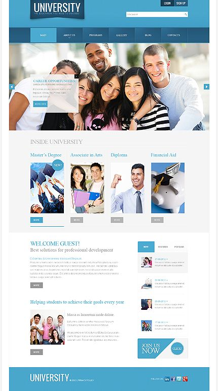 University Education Joomla Templates by Sawyer