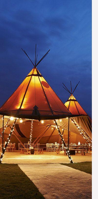 Nice tent wedding idea