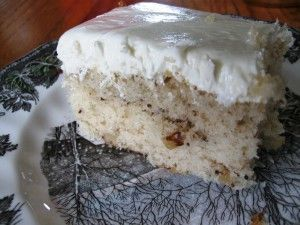 Black Walnut Cake - When I visited Grandma on my birthday, she would always make me a black walnut cake! How I miss her!