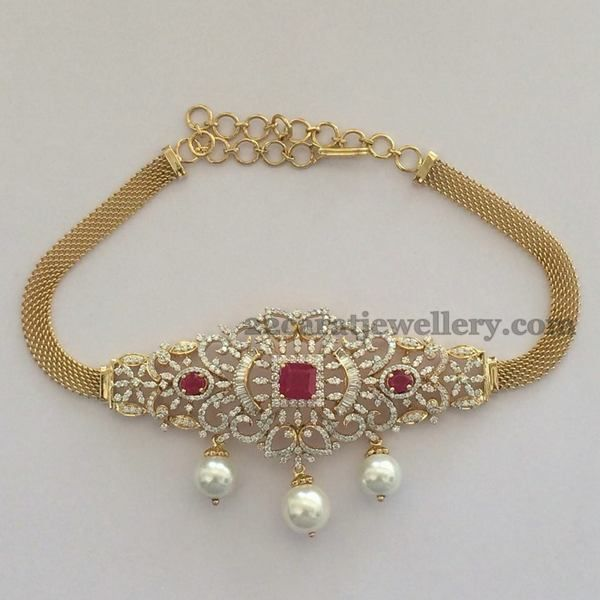 Gold And Diamond Jewellery Designs Indian Diamond Choker: Jewellery Designs: 2 In1 Affordable Diamond Chokers