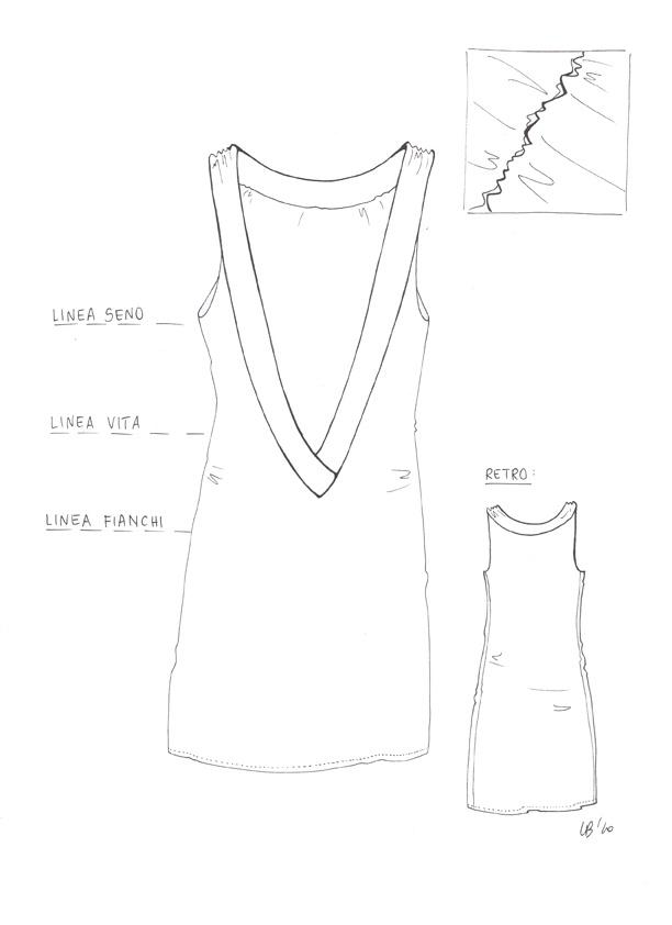 Disegno tecnico a piatto per la linea cangiari.ME (disegno a mano libera, formato 210x297mm, Settembre 2010)