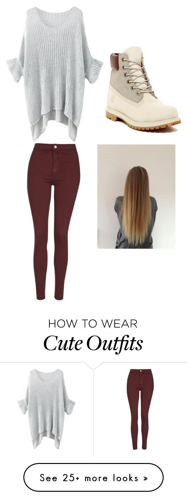 """cute outfit in the winter"" by kellmam on Polyvore featuring mode, Topshop en Timberland"