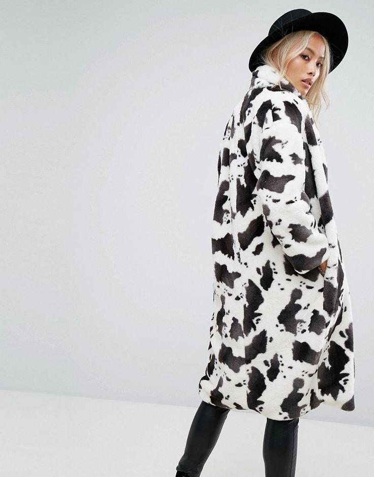 Pin On I N T O F A S H, White Long Line Faux Fur Zebra Print Coat