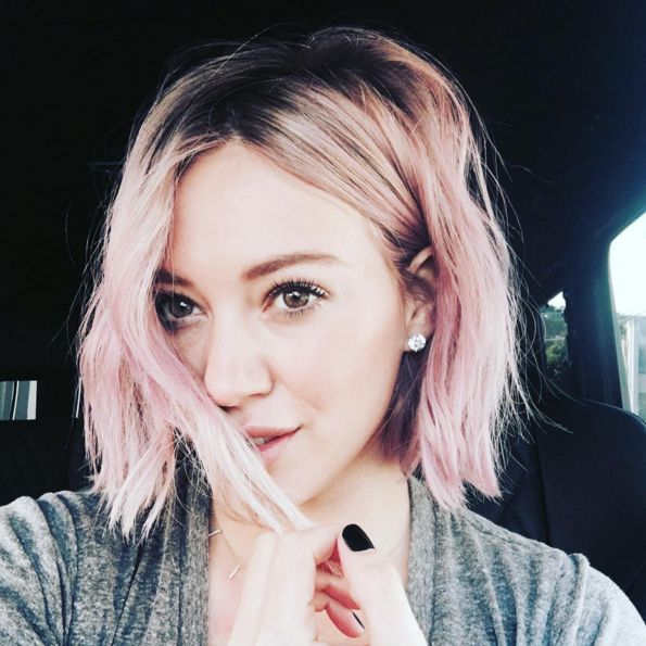 What Those Jars Of Manic Panic Will Actually Look Like On Your Head #refinery29  http://www.refinery29.com/manic-panic-hair-dye#slide-2  Hilary Duff's Pastel Pink  This hue is equal parts pink and Pastel-izer, so get your science-class measuring skills ready. Mix Fleurs du Mal Creamtone Hair Color with Pastel-izer to dilute the shade, and then distribute it through your hair. To channel Duff's dreamy look, leave t...