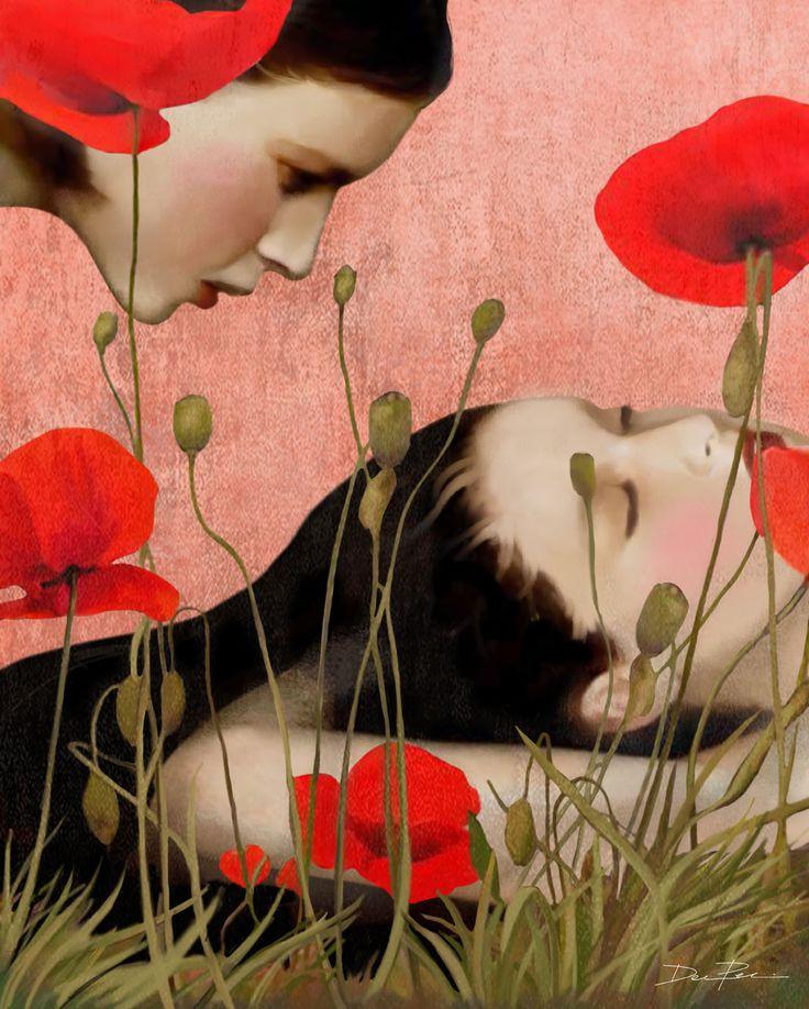 Daria Petrilli-Dreaming in a field of poppies-