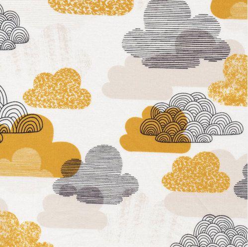Organic Baby Bedding - Clouds Crib Sheet Organic Cotton by Cloud9