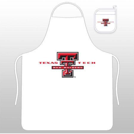 Ncaa Texas Tech University Tail Gate Kit with Apron and Mitt, White