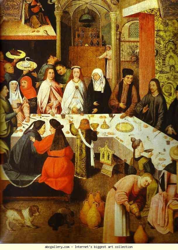 Hieronymus Bosch. Marriage Feast at Cana. Olga's Gallery - Marriage Feast at Cana. . Oil on panel. Museum Boymans-van Beuningen, Rotterdam, Netherlands: