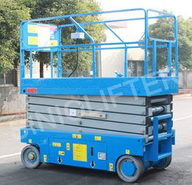 Self-propelled scissor lift, used for maintain, installation and cleaning. 5-16m is available for choice. Battery or diesel power. (www.sinolifter.com)