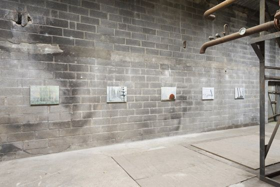 Alejandro Campins, Series - Les Moulins, 2015, oil and ink on canvas and tracing paper, 45 x 60 cm each. Galleria Continua Les Moulins, 2015. Photo by Oak Taylor-Smith