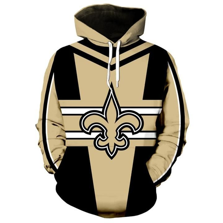 reputable site 77ead 1206a NFL Football Hoodie 3D Hooded New Orleans Saints Sweatshirt ...