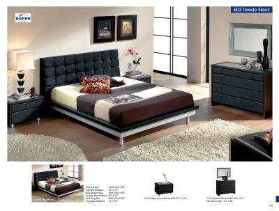 Bedroom Furniture Modern Bedrooms Toledo 603 Black, M73, C73, E93 For Sale  At
