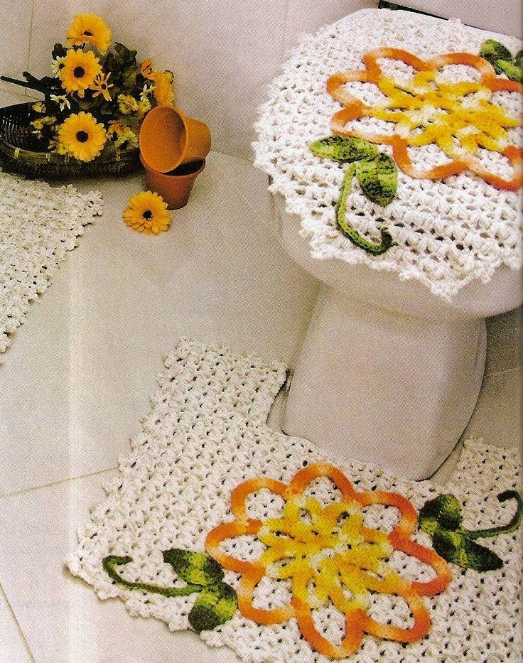 tapetes em croche para banheriro em croche com receita