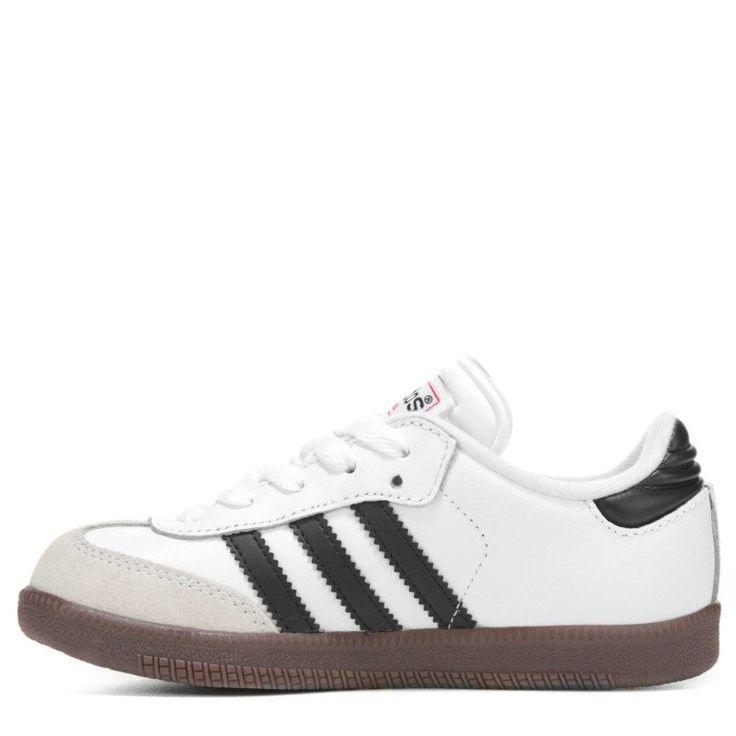 Adidas Kids' Samba Classic J Sneaker Pre/Grade School Shoes (White)