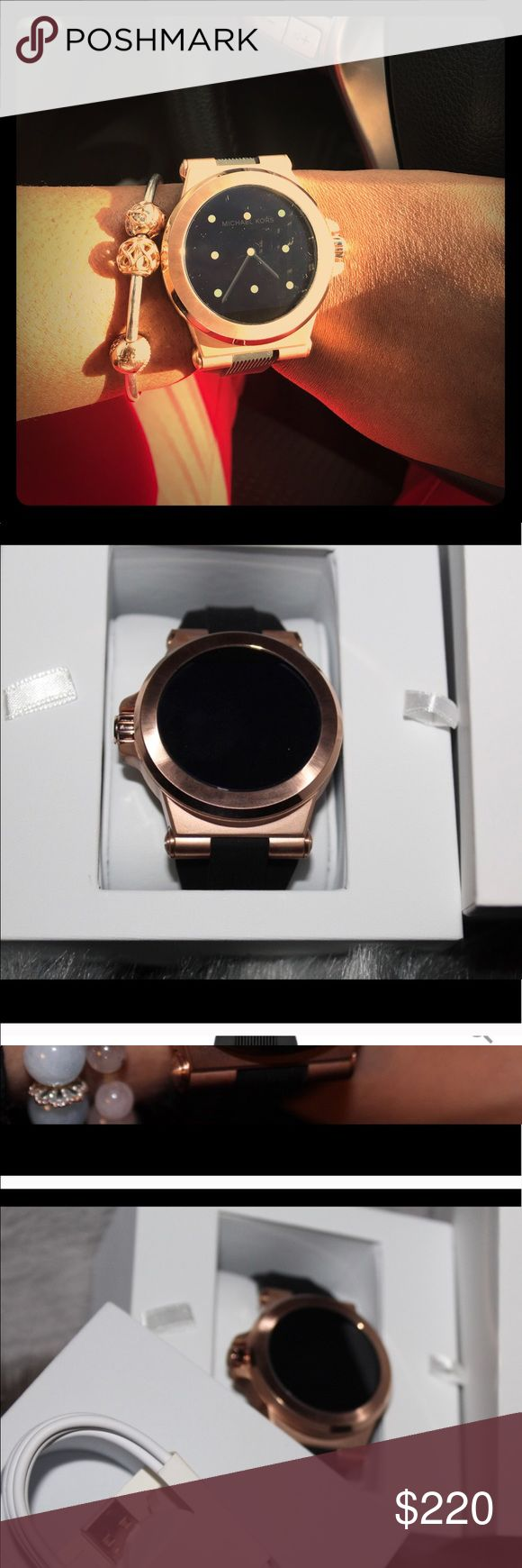 *REPOSHING*MK-Smartwatch *sadly REPOSHING*AUTHENTIC!!!!!DOESNT Work well with iPhone 7plus  yet is compatible(my opinion) watch in EXCELLENT CONDITION. Only owned a week new in ORGINAL box. ❌NO TRADES❌PRICE FIRM❗️NEW WITHOUT TAGS MICHAEL Michael Kors Accessories Watches