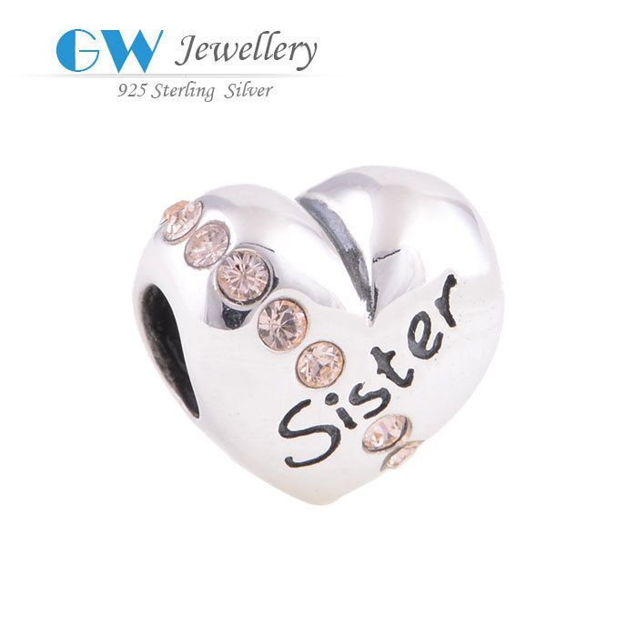 Find More Charms Information about DIY European brand sister charms fits bracelets genuine 925 sterling silver GW fine jewelry X121A,High Quality jewelry bike,China jewelry trinket Suppliers, Cheap jewelry murano from GW FINE JEWELRY-Factory Store on Aliexpress.com