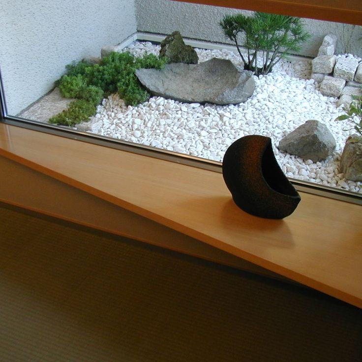 坪庭の枯山水と飾りカウンター - ・・・OpenAirCafe・・・