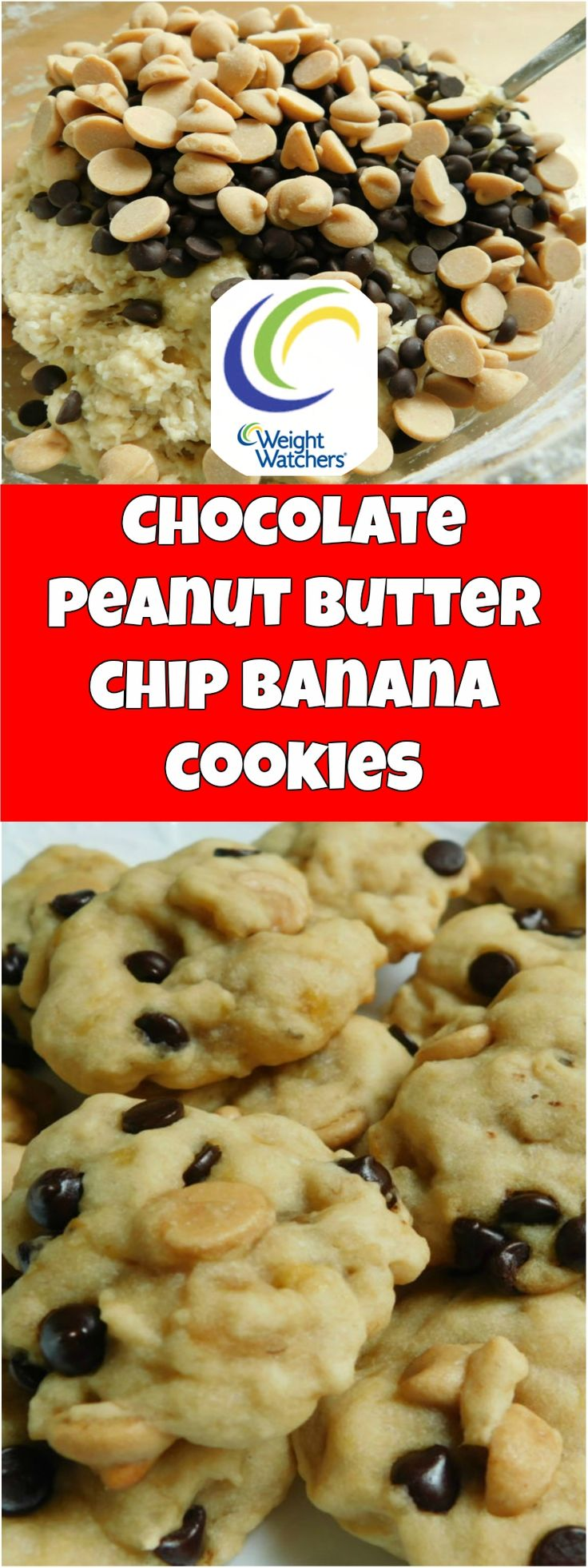 Chocolate peanut butter chip banana cookies weight watchers smartpoints 2