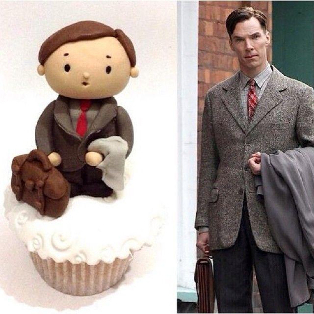 Turingbatch Cupcake - The Imitation Game.  Love Love Love it!!!!!!!!! <3 :D