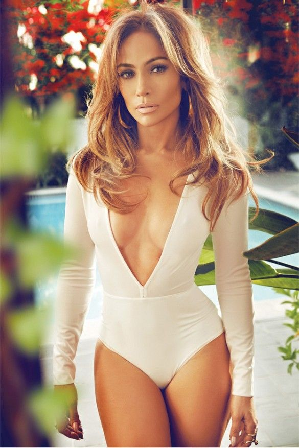 Jennifer Lopez in a sexy low-cut bodysuit for Complex Magazine, 2015