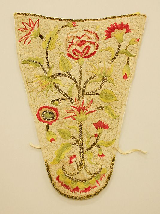 Stomacher  Date: ca. 1710 Culture: British Medium: linen