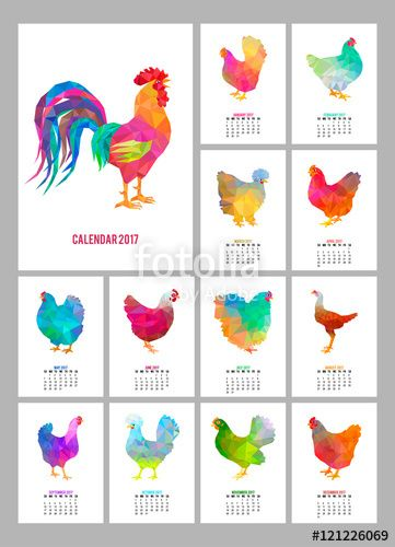 "Download the royalty-free vector ""Desk Calendar for 2017 Year. Set of 12 colorful months pages and cover. Abstract low poly rooster and chickens. Chinese holiday symbol."" designed by sebos at the lowest price on Fotolia.com. Browse our cheap image bank online to find the perfect stock vector for your marketing projects!"