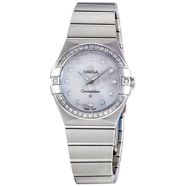 Omega Constellation Mother of Pearl Diamond Dial Ladies Watch 123-15-27-60-55-001 - Constellation - Omega - Shop Watches by Brand - Jomashop
