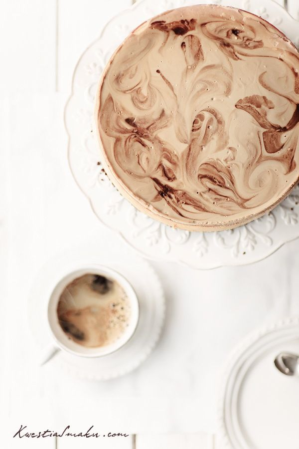 marbled coffee cheesecake // update: no recipe attached but I linked the one I used from Epicurious