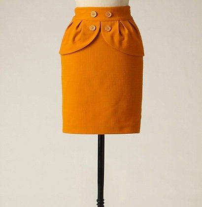 DIY: The Good Life's Anthropologie-inspired peplum skirt tutorial #upcycle  I will never be able to do this type of stuff but its cool