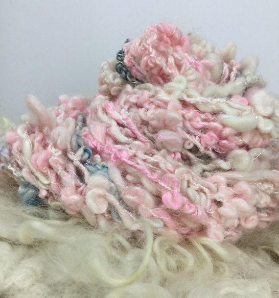 Hand spun chunky boucle art yarn uber soft very by Pinkipunki