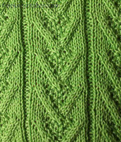 V-twisted knit stitch knitting stitches