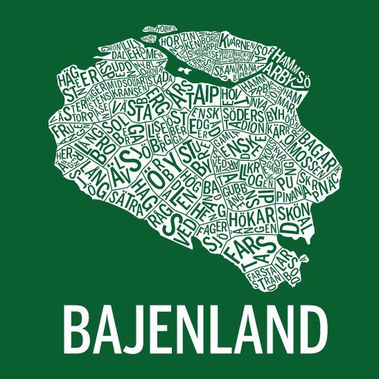 Print Bajenland i färgen negativ hemma 2