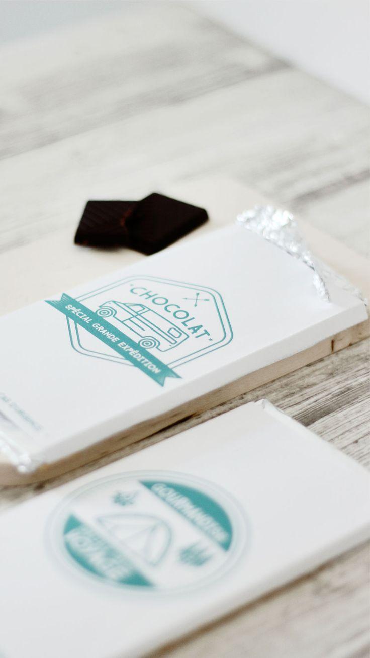 Packaging tablette de chocolat à imprimer