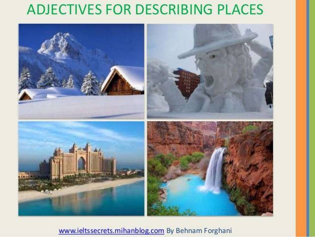 Adjectives To Describe Places List Buscar Con Google