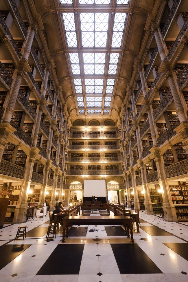 George Peabody Library Baltimore Library Architecture Books City Of Baltimore Johns Hopkins U George Peabody Library Peabody Library Library Architecture