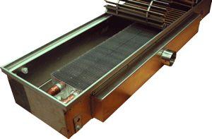 Внутрипольные конвекторы eva  EVA COIL - KЭ Встраиваемый конвектор отопления Артикул: нет Внутрипольный конвектор с естественной конвекцией EVA COIL - KЭ, без вентилятора, решетка анодированная (серебристая). Гарантия производителя