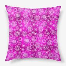 Подушка «Розовый цветочный паттерн»