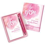 2018 Be You Women's Monthly Planner & Pen Gift Set http://www.positivepromotions.com/breast-cancer-awareness-month/c/hlcbreastcancerawarenessmonth/filter/100000003407eq100000003422or100000003423/