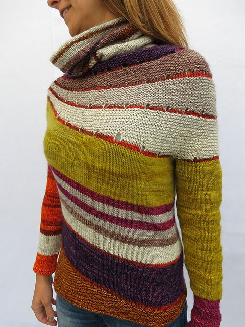 Enchanted Mesa by Stephen West. malabrigo Mostaza and others yarns.