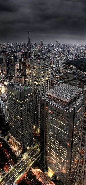 Tokyo at night, Japan (by Lucy 1979 on Flickr)