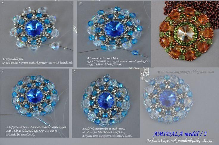 Maya Pearls: Everyone a Happy New Year to Amidala medallion pattern