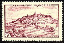 Vézelay - Timbre de 1946