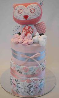 Hoot hoot nappy cake - Adelaide baby gift