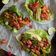 Wrap spicy chicken in lettuce wraps for a carb-free delicious meal.