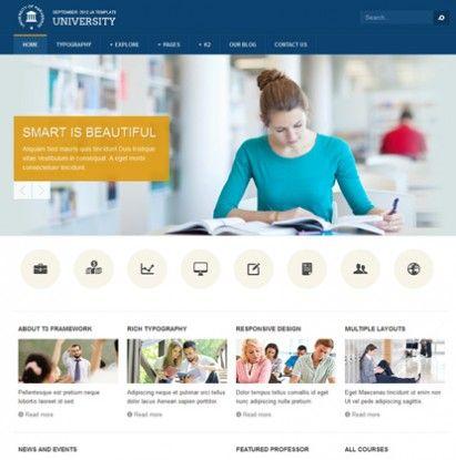 JA University - Responsive Joomla Template for schools & universities