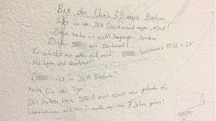 Klären diese Knast-Kritzeleien einen Mord auf? *** BILDplus Inhalt *** - Ruhrgebiet - Bild.de