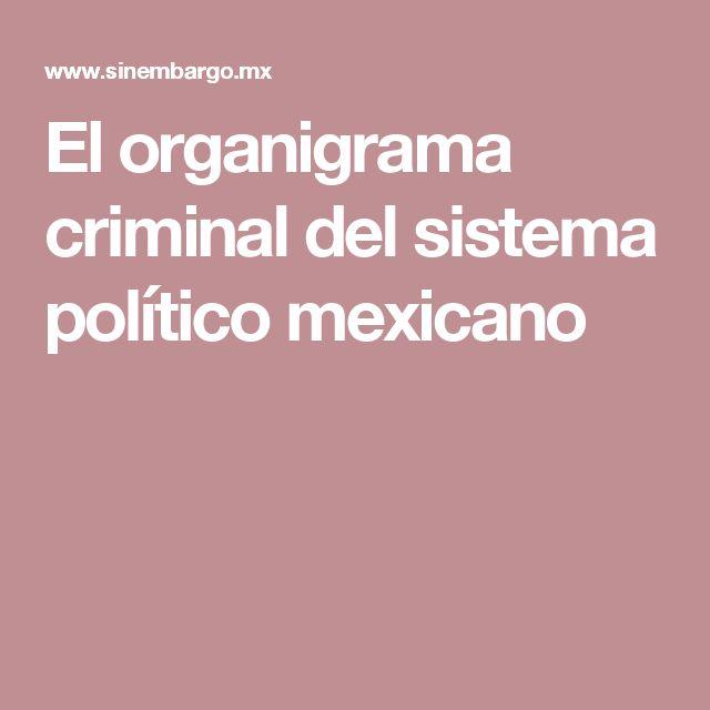 El organigrama criminal del sistema político mexicano