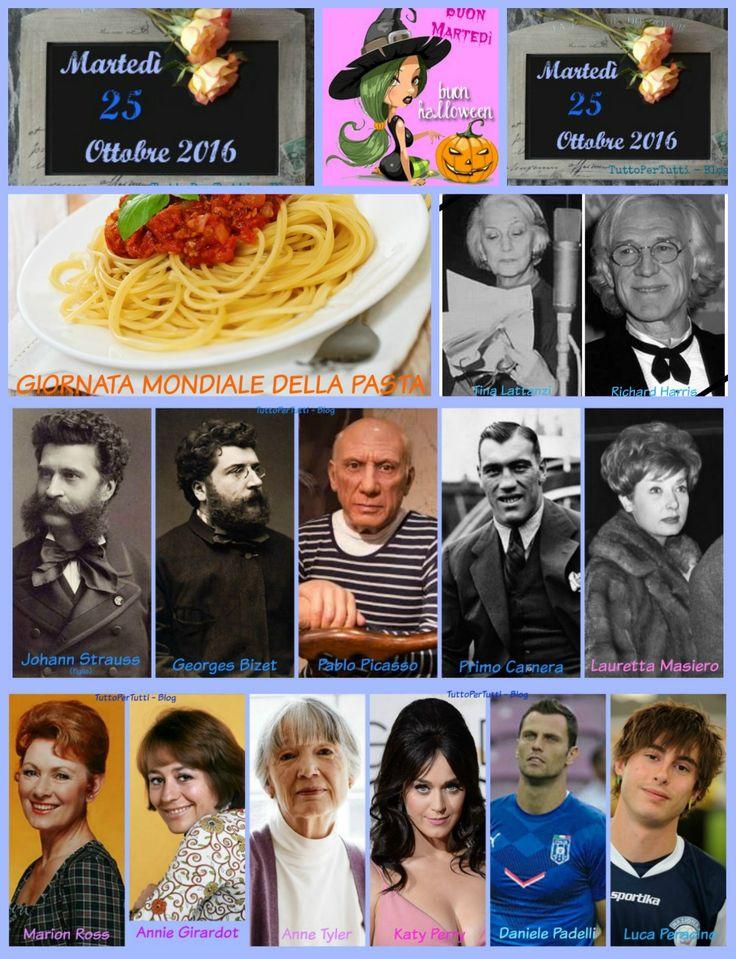 25 OTTOBRE 2016 Martedì - GIORNATA MONDIALE DELLA PASTA http://tucc-per-tucc.blogspot.it/2016/10/25-ottobre-2016-martedi-giornata.html
