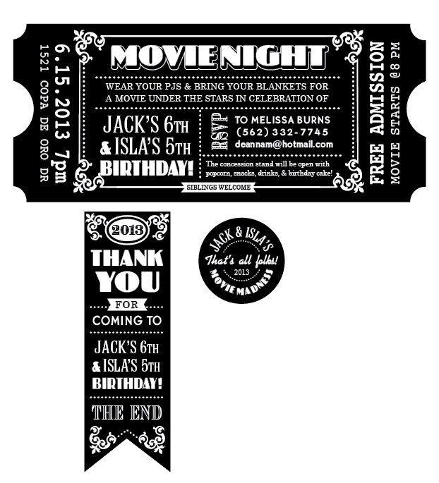 78 best Movie images on Pinterest Gourmet popcorn, Candy popcorn - movie ticket template