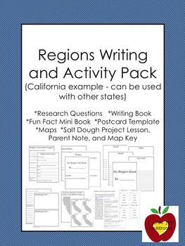 California Regions Writing and Activity Pack